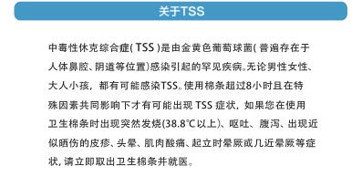 使用卫生棉条并不会提高得TSS概率