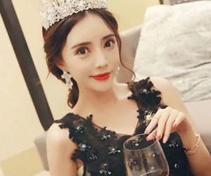 韩版名媛气质性感V领显瘦蕾丝网纱连衣裙